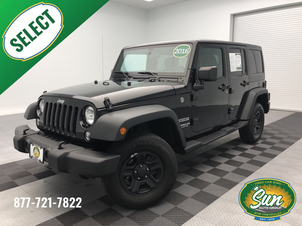 Jeep Wrangler Unlimited Sport >> Pre Owned 2016 Jeep Wrangler Unlimited Sport 4d Sport Utility