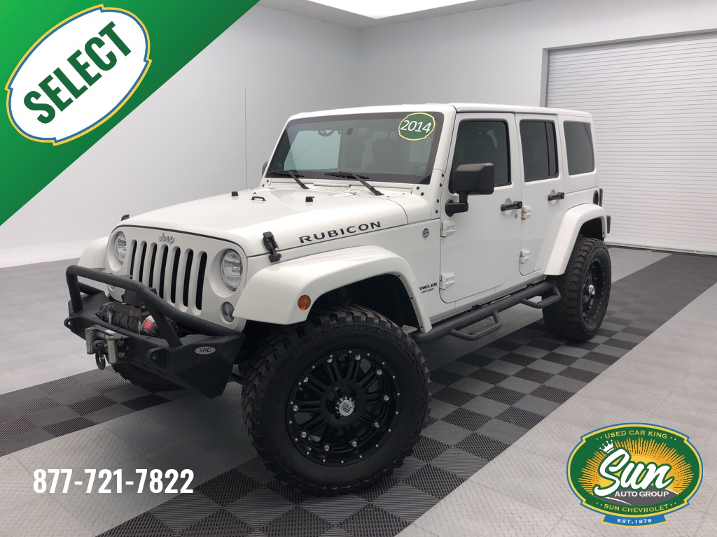 2014 Jeep Wrangler Rubicon >> Pre Owned 2014 Jeep Wrangler Unlimited Rubicon 4d Sport Utility
